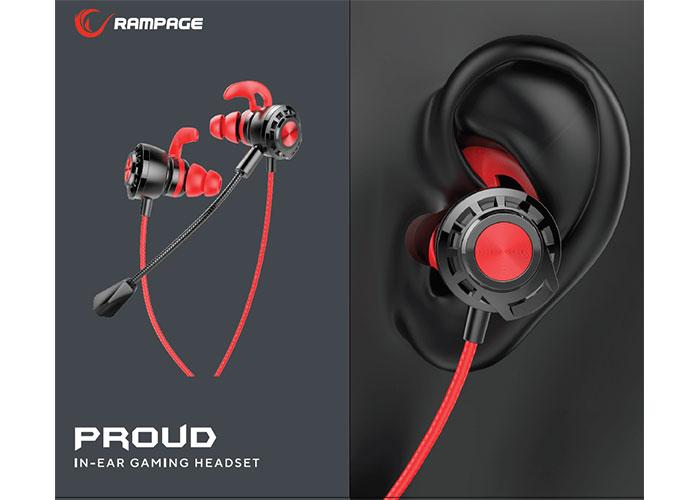 Rampage RM-K36 PROUD 3,5mm Gaming Kırmızı Kulak İçi Mikrofonlu Kulaklık