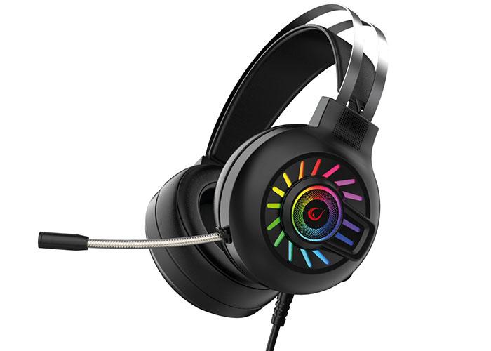 Rampage RM-K44 ZENGIBAR Siyah RGB Işık Efekti Mikrofonlu Oyuncu Kulaklığı
