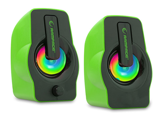 Rampage RMS-G7 FALSETTO 2.0 6 Watt RGB Ledli Yeşil Multimedia Gaming USB Speaker