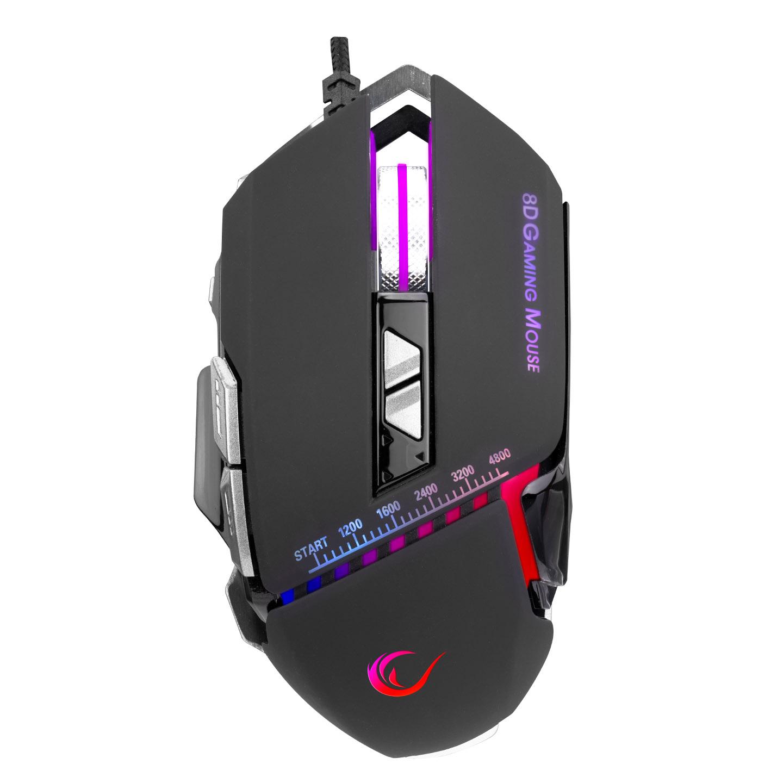 Rampage RM-607 HEADY Usb Siyah 4800dpi RGB Ledli Gaming Oyuncu Mouse