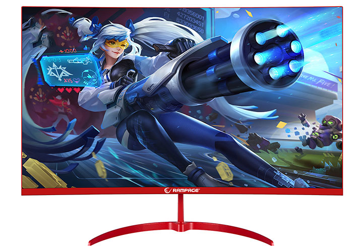 Rampage RM-750 CURVE 27 75Hz A + Panel FHD 1ms 1x1000 Contrast 1920x1080 Frameless 170 ° -160 ° Curved Monitor
