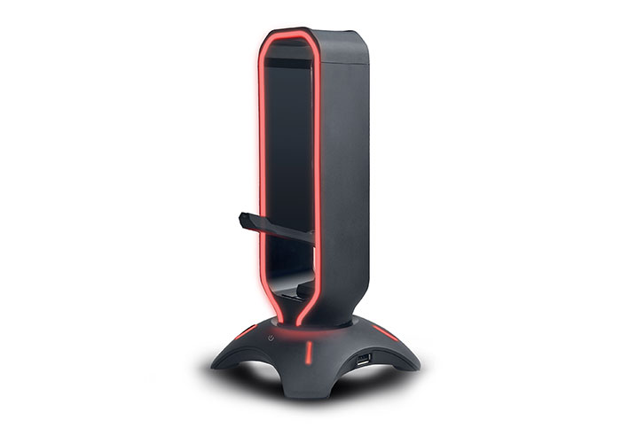 Rampage RM-H66 GUARD RGB Işıklı 2*Usb Port Kulaklık İçin Stand