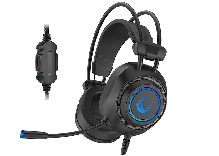 Rampage RM-K19 RAGING Black 3,5mm 7 Color (Rainbow) Led Gaming Headset with Mic