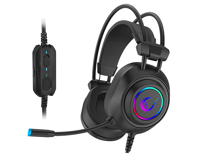 Rampage RM-K19 RAGING PLUS Black USB 7.1 Version RGB Led Gaming Headset with Microphone
