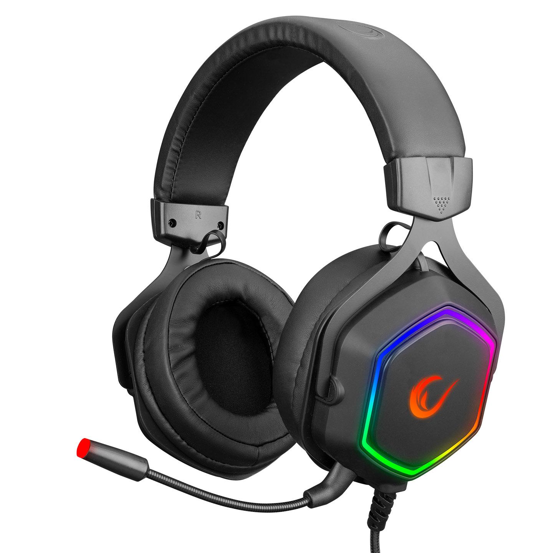 Rampage RM-K50 SELECT Siyah Usb 7.1 RGB Ledli Gaming Oyuncu Mikrofonlu Kulaklık