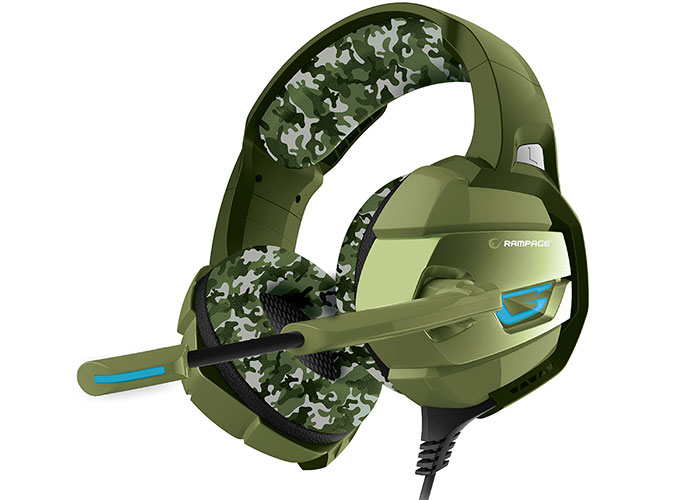 Rampage RM-K5 CAMUFLAJE Camouflage Color 7.1 Surround Sound System USB Microphone Headset