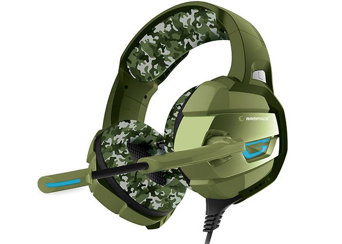 Rampage RM-K5 CAMUFLAJE Kamuflaj Renkli 7.1 Surround Sound System USB Mikrofonlu Oyuncu Kulaklığı