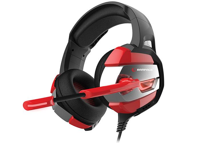 Rampage RM-K5 NOBLE Siyah/kırmızı 7.1 Surround Sound System USB Mikrofonlu Oyuncu Kulaklığı