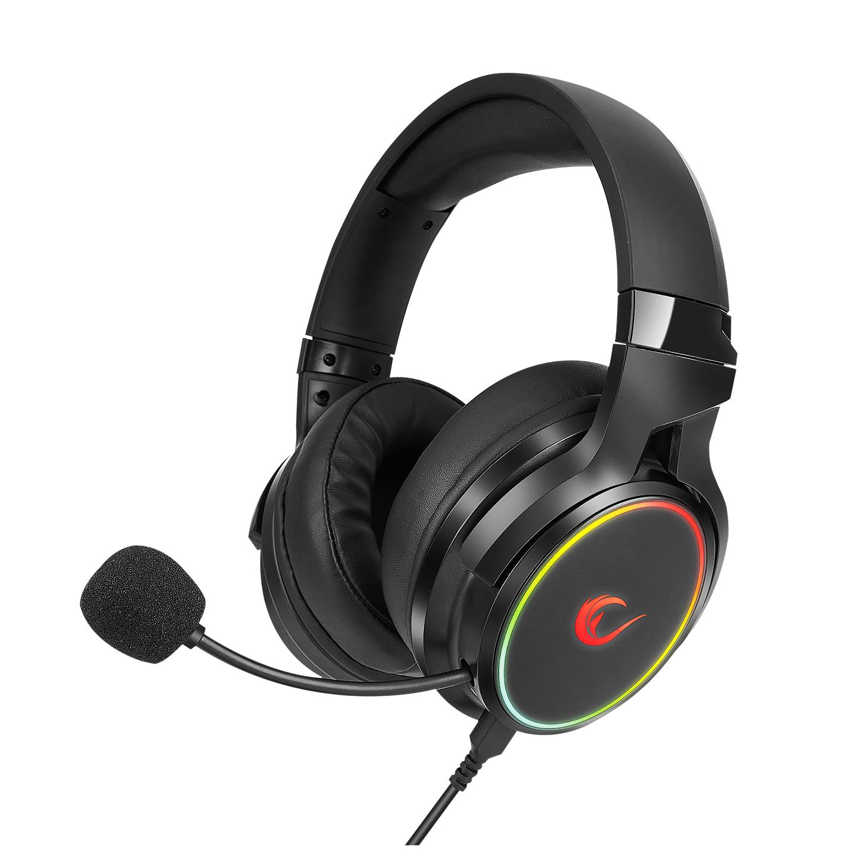 Rampage RM-K81 DELUXE Siyah 7.1 Surround Bluetooth RGB Ledli Şarjlı Oyuncu Mikrofonlu Kulaklık