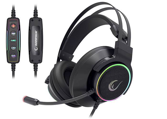 Rampage RM-K9 PALADIN Siyah USB 7,1 Version RGB Led+RGB Ses Kontrollü Oyuncu Mikrofonlu Kulaklık
