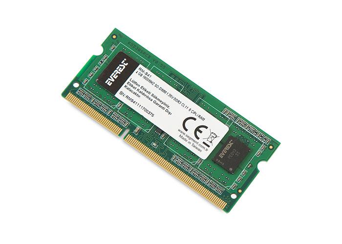 Everest RM-S41 4 Gb Notebook 1600Mhz SO-DIMM 1.35V DDR3 CL11 8 Çipli RAM