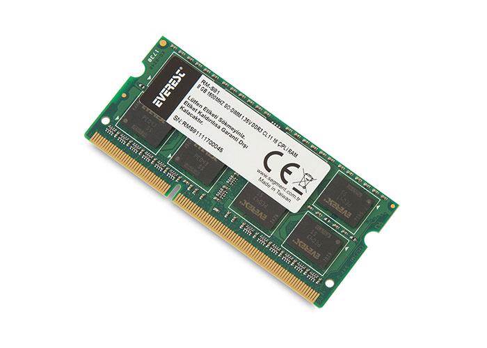 Everest RM-S81 8 Gb Notebook 1600Mhz SO-DIMM 1.35V DDR3 CL11 16 Çipli RAM