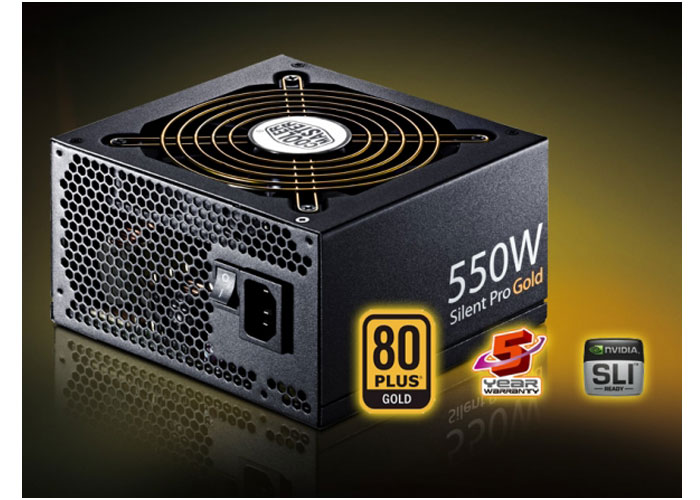 Cooler Master RS550-80GAJ3-EU 550W Silent Pro Gold Active PFC Power Supply
