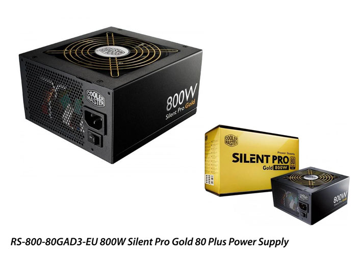 Cooler Master RS-800-80GAD3-EU 800W Silent Pro Gold 80 Plus Power Supply