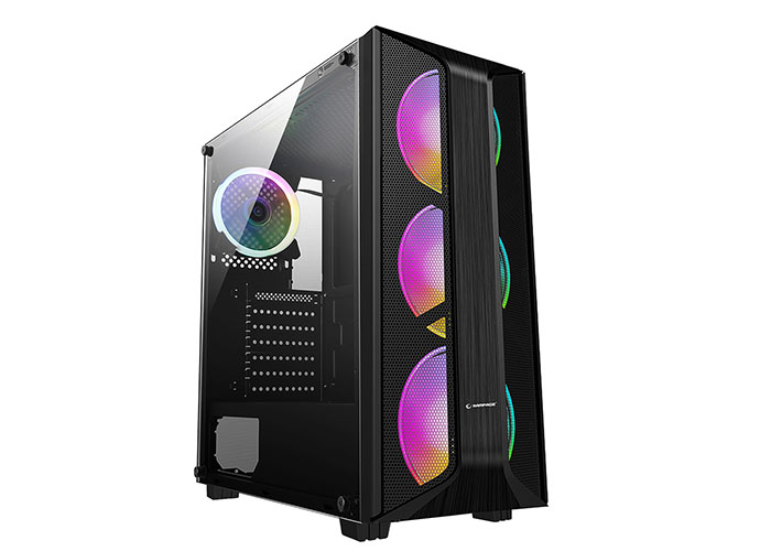 Rampage SAILOR Temper Camlı 600W 80 Plus Bronze Siyah 4*12cm Rainbow Fanlı Gaming Oyuncu Kasası