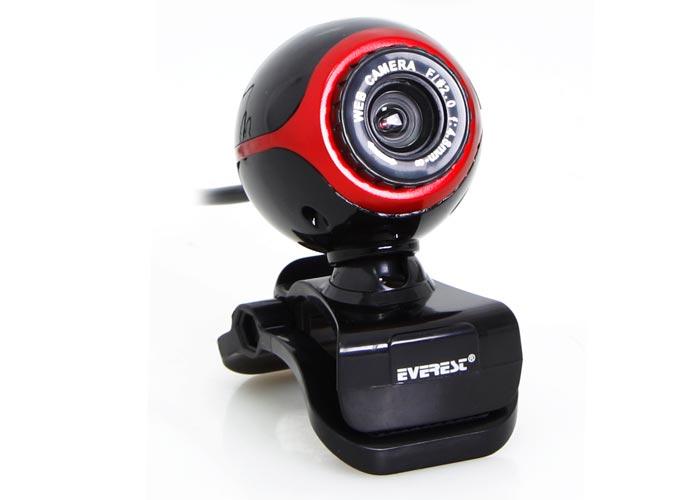 Everest SC-626 Usb Mikrofonlu Siyah/Kırmızı Pc Kamera