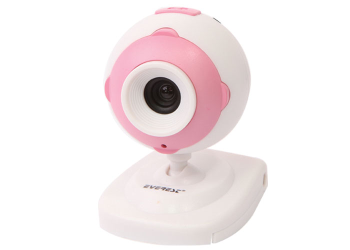 Everest SC-801 Usb Mikrofonlu Pembe/Beyaz Pc Kamera
