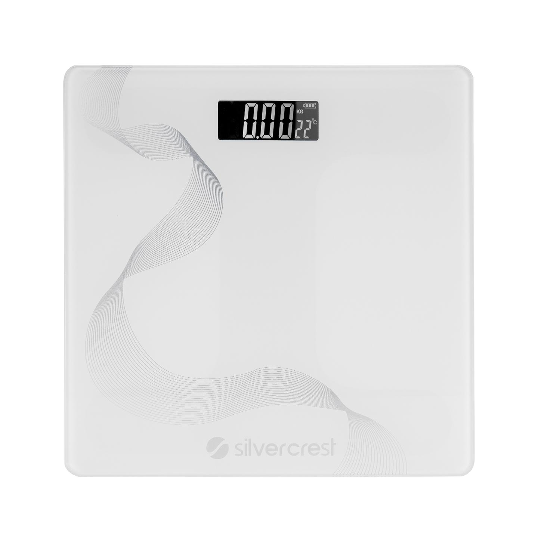 Silver Crest SC-BS100 30x30 Boyutunda Gümüş Çizgili Beyaz Baskül