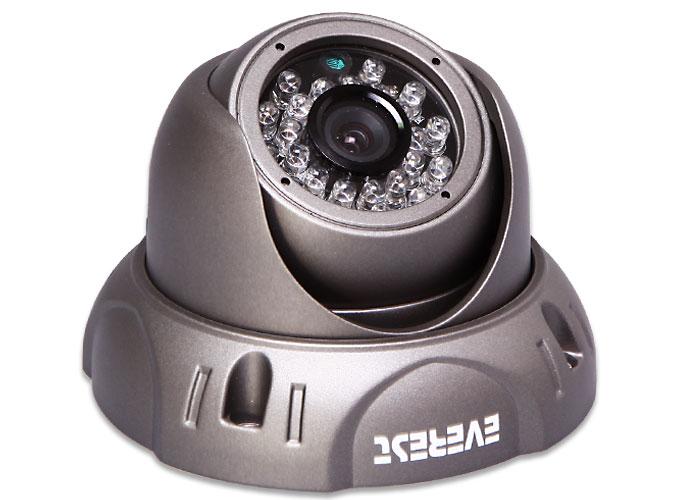 Everest SFR-608 Sony Effio CCD Sensor 6mm 700TVL Dome 23 Led Osd Menu Security camera