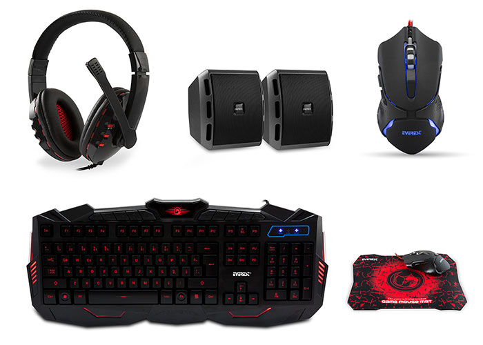 Everest SGM-K77 Usb Gaming Set Kulaklık+Speaker+ Q Multimedia Klavye + Mouse + Pad Set