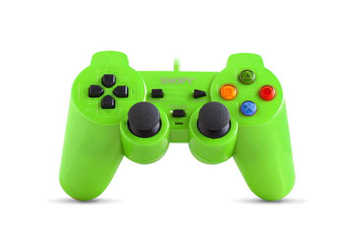 Snopy SG-302 Green USB 1.8m Cable Joypad