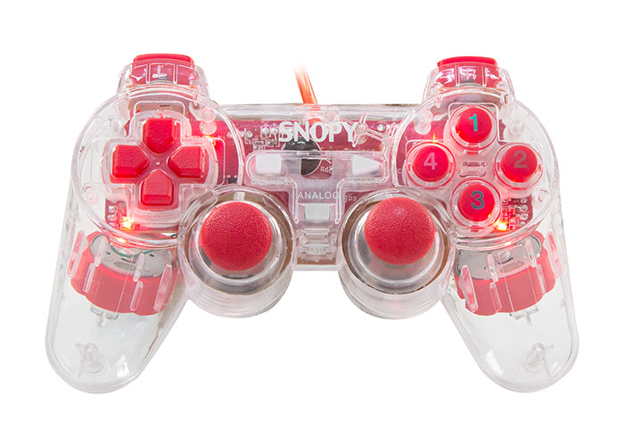 Snopy SG-502J USB/PC/PS3 Double Shock Şeffaf Joypad
