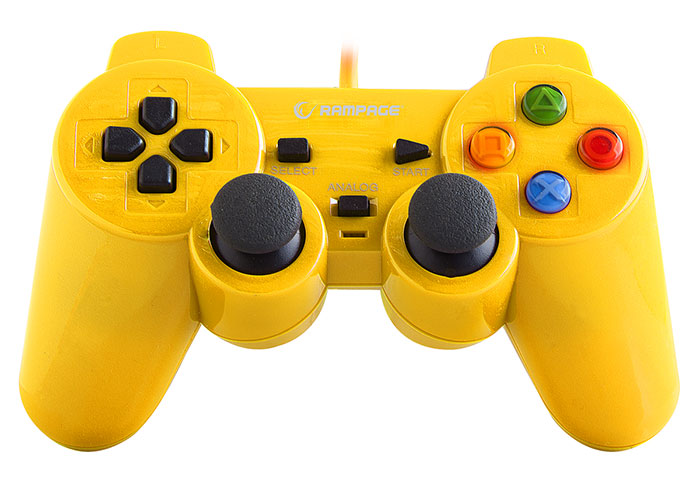 Snopy Rampage SG-R602 PS3 / PC Yellow USB 1.8m Joypad