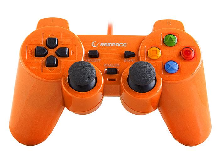 Snopy Rampage SG-R602 PS3 / PC Orange USB 1.8m Joypad