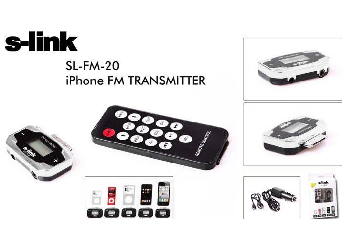 S-link SL-FM-20 iPhone Fm Transmitter