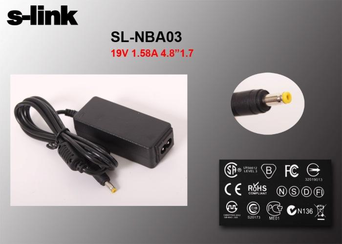 S-link SL-NBA03 30W 19V 1.58A 4.8*1.7 Hp Netbook Standart Adaptör