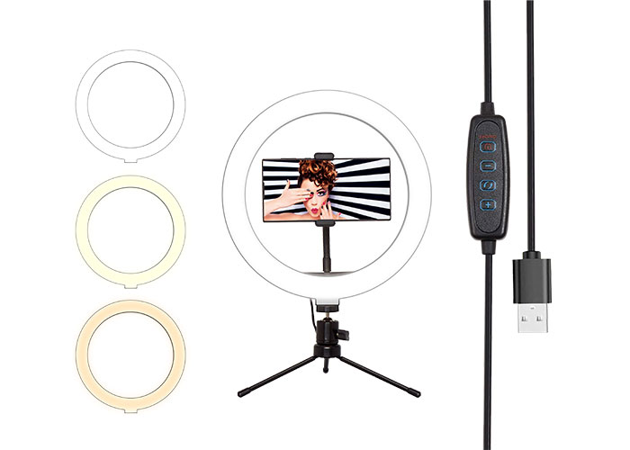 S-link SL-SF200 10 inç Telefon Tutuculu Youtuber  Makyaj Halka LED Işık
