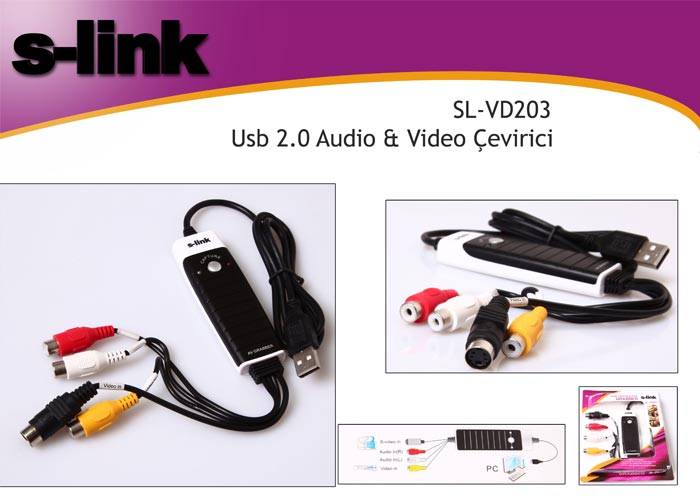 S-link SL-VD203 Usb 2.0 Audio  Video Çevirici