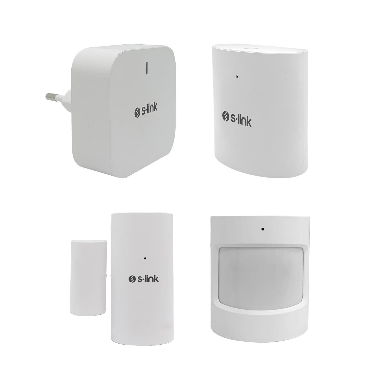S-Link SL-ZS01 Zigbee Sensör Seti 1 Gateway ve 3 Parça Sensör Zigbee TUYA Uyumlu