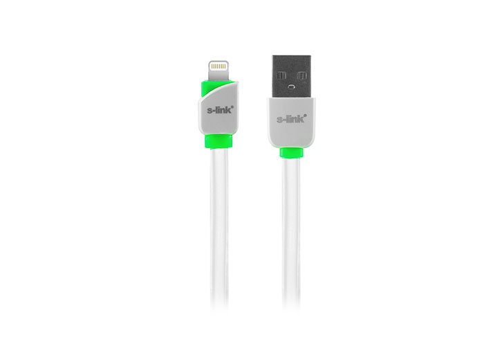 S-link SLP-503 iPhone 5 / 5s / 6/6 PLUS Lightning 1m Fast Charger White Data + Charger Cable