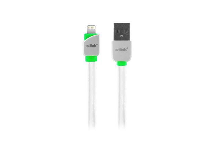 S-link SLP-503 iPhone 5/5s/6/6 PLUS Lightning 1m Hızlı Şarj Beyaz Data + Şarj Kablosu