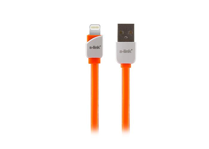 S-link SLP-503 iPhone 5/5s/6/6 PLUS Lightning 1m Hızlı Şarj Turuncu Data + Şarj Kablosu