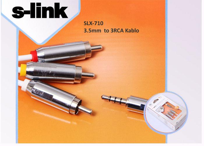 S-link SLX-710 3.5mm 4 to 3RCA Ipod/Kamera/PSP Kablo