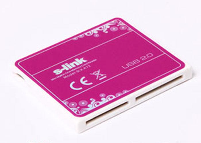 S-link SLX-A72 Usb 2.0 İnce Tasarım Kırmızı Kart Okuyucu