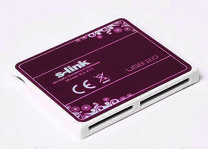 S-link SLX-A74 Usb 2.0 İnce Tasarım Siyah Kart Okuyucu