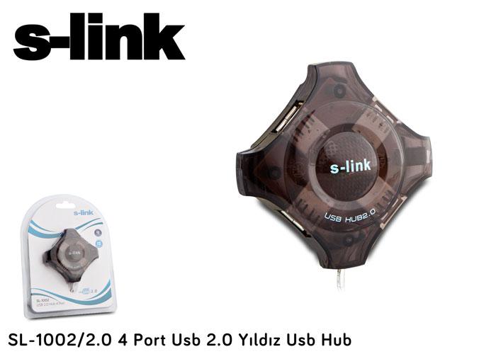 S-link SL-1002/2.0 4 Port Usb 2.0 Yıldız Usb Hub