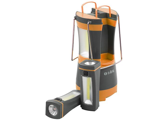 S-link SL-8701 Turuncu 2*2w Ayrılabilir Mini El Feneri LED Kamp Feneri