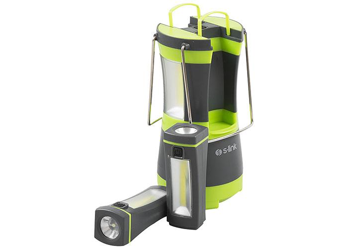 S-link SL-8701 Yeşil 2*2w Ayrılabilir Mini El Feneri LED Kamp Feneri