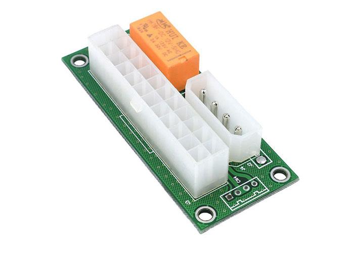 S-link SL-EX118 ATX Molex Çift 4 pin + 24pin Güç Kaynağı Çevirici