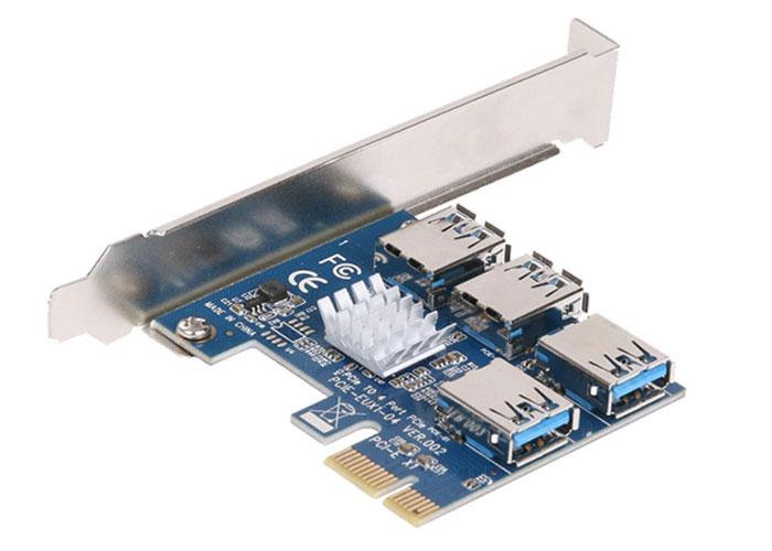S-link SL-EX15 PCI-E to 4 * USB3.0 Bitcoin Riser Graphics CardCoder