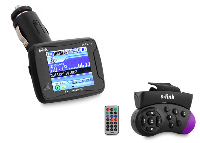 S-link SL-FM-18 2Gb MP4 SD/Usb Destekli Fm Transmitter