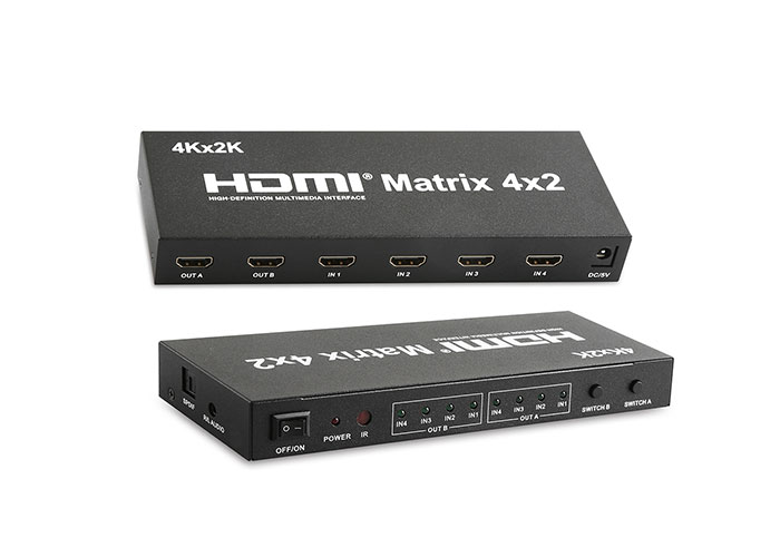 S-Link SL-HSWM42 4X2 Matrix HDMI Switch