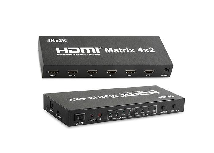 S-Link SL-HSWM42 4X2 Matrix HDMI Switch