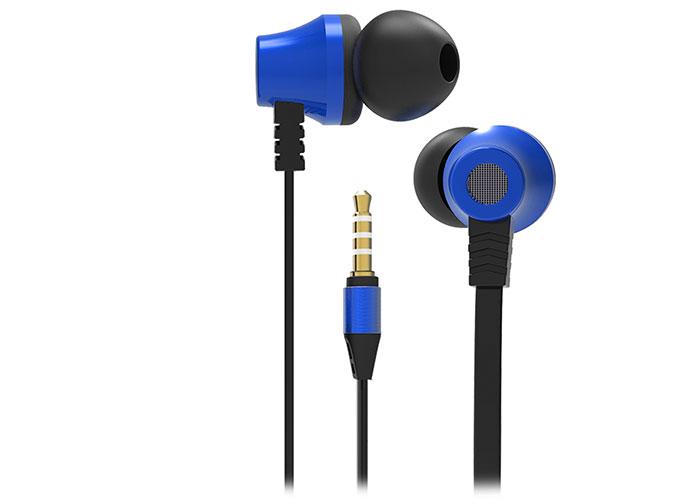 S-link SL-KU150 Mobil Telefon Uyumlu Taşıma Çantalı Kulak içi Siyah/Mavi Mikrofonlu Kulaklık