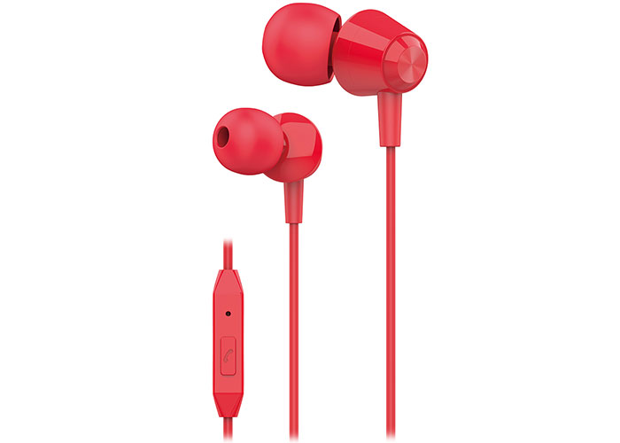 S-link SL-KU160 Mobil Telefon Uyumlu Kırmızı Kulak İçi Mikrofonlu Kulaklık