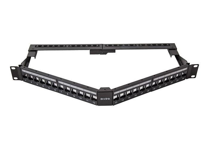 S-Link SL-P625 24 lü Kolay Kullanımlı, UTP BOŞ V Şeklinde Patch Panel
